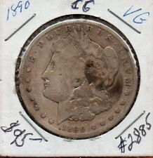1890 Carson City Morgan Silver Dollar: (VG)  Lot #2885