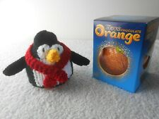 TERRYS CHOCOLATE ORANGE COVER x 1 Penguin Black red scarf Hand Knit Novelty