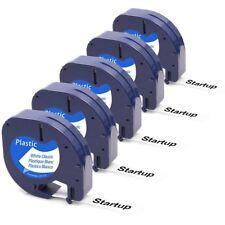 Dymo Letratag Band Kassette Etiketten Paper White Plastic Tape 12mm x 4m xr 5PCS