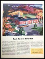 1940 Ethyl Gas School Bus Vintage Advertisement Print Art Car Ad Poster LG89