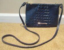 Brahmin Authentic! Perri INK Blue Crossbody Leather Clutch  Bag