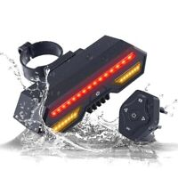 Bycicle Tail Light Smart Brake Taillights MTB Cycle Rear Led Wireless USB Lamp