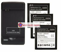 3 replacement battery and 1 Wall Charger for Samsung Galaxy s s4 sIV cell phone