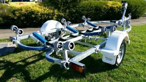 Precision boat trailer 5.2 mt suit 14-16 ft boats full galv drive on