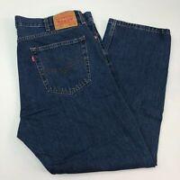 Levi's 505 Denim Jeans Mens 42X30 Blue Regular Fit Straight Leg Medium Washed