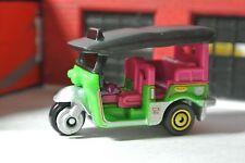 Matchbox Loose Tuk Tuk Thailand Taxi - Green Pink Black - 1:64