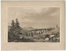1856 Lithograph of Black Forest Mount Hope - Sierra Preita Mount Hope- Arizona