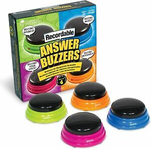 Recordable Answer Buzzers Set Of 4 Buttons Learning Resources Recordable