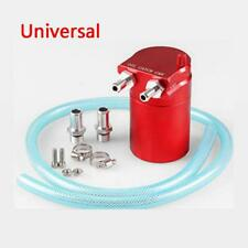 Red Aluminum Baffled Oil Catch Can Tank Reservoir Breather With Fittings Solid
