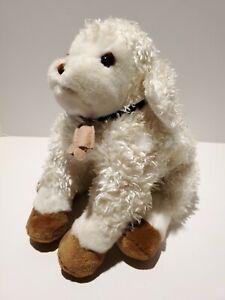 "D1 DAKIN Applause Baby Lamb PLUSH STUFFED ANIMAL Curly Weighted 17"" Rare"