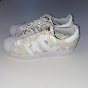 Adidas Superstar Low Top Shell toe Camo White Tan Mens Size 8.5