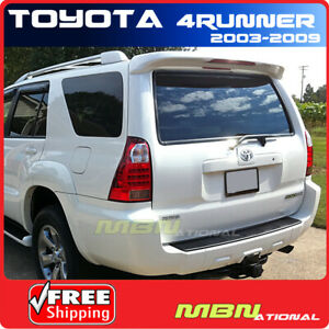 For 03-09 4Runner 4DR Utility Rear Trunk Roof Spoiler Painted ABS 056 WHITE