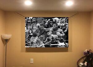 BIG! 44x31 Mike Tyson vinyl Banner POSTER Canelo Alvarez boxing Floyd Mayweather