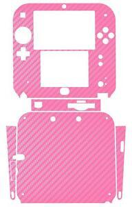 Pink Carbon Fiber Vinyl Decal Skin Sticker Case for Nintendo 2DS