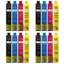 16 Ink Cartridges to replace Epson T1291 T1292 T1293 T1294 (T1295) non-OEM