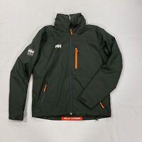 Helly Hansen Waterproof Jacket Black Foldable Hood Mens Size UK M *REF136