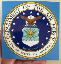 Two USAF 4 x 4 US Air Force decal.  NEW. $5.00. SHIPS FREE