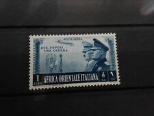Italiaans Oost Afrika Mi. 63 Due Popoli Una Guerra 1941 Gom/Plakkerspoortje