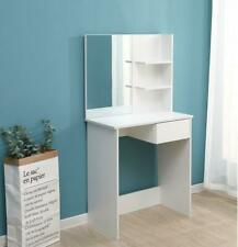 Vanity Dressing Table Make Up Desk w/ Shelves & Mirror Jewellery Storage Bedroom