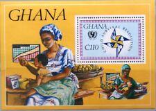 Ghana 1985 bloque 122 S/s 1001 las naciones unidas onu Child survival campaign Medicine mnh