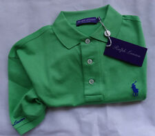 "RALPH LAUREN Purple Label Polo Made in Italy ""Bright green"" T L"