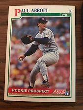 1991 Score Rookie Prospect Paul Abbott Minnesota Twins 363