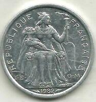 POLYNESIE 1 FRANC 1982 UNCIRCULATED