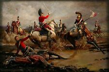 High Quality  print of The Death of Major Ponsenby at the Battle of Waterloo.