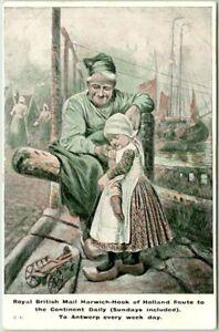 "1906 GREAT EASTERN RAILWAY Postcard ""Royal British Mail Harwich-Hook of Holland"""