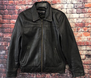 Men's Wilsons Leather Bomber Jacket Size Small
