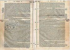 1535 TIBOLI Tivoli veduta Roma Lazio Jacopo Foresti Bergomensis xilografia