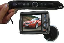 """CCD LICENSE PLATE IR WIDE ANGLE REAR VIEW BACKUP CAMERA &3.5"""" WINDSHIELD TFT LCD"""