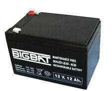 Batteria Ermetica Ricaricabile al Piombo 12V Volt 12Ah MADE IN ITALY  BIGBAT
