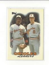 1988 Topps Tiffany #51 Cal Ripken/Eddie Murray TL Orioles