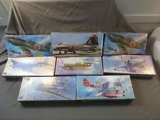 Hasegawa 1:72 Lot of 8 Mitsubishi Kawanishi P-40N Warhawk Corsair Model Kit