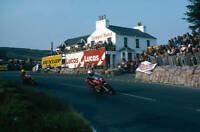 OLD LARGE MOTORCYCLE PHOTO, Mike Hailwood, Isle of Man TT race, Ducati 1978 1