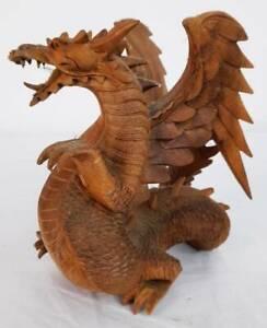 Drache aus Holz, Deko-Figur, Höhe 23cm