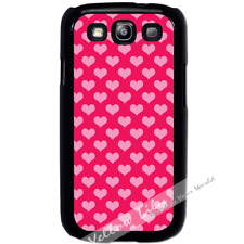 For Samsung Galaxy S3 i9300 Case Cover Pink Hearts Y01569