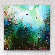 "20x24""- LARGE ORIGINAL Painting - Woodland Forest Art By JENNIFER TAYLOR"