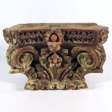 Antikes Tempel Säulen Kapitell Indien Architektur Pilaster Holz geschnitzt 40 cm