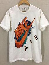 Vintage Nike Paint Splash Spell Out Big Logo T-Shirt Sz Medium USA