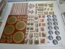 8X CUT SHEETS FROM TBZ FOR MAKING CARDS WITH RELIEF/GOLD (A6288)