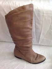 Russell&Bromley Brown Knee High Leather Boots Size 37