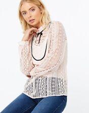 BNWT Monsoon light pink Lottie Laura Lace Blouse Size 10 very pretty