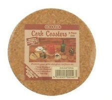 Natural Cork Coasters / Mats Pack of 6 - FREE DELIVERY