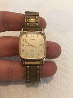 Vintage Men's Timex Quartz Watch Gold LA Cell
