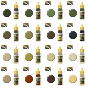 Ammo by Mig Acrylic Paints (Singles Choose Your Paint Colour From Full Range)