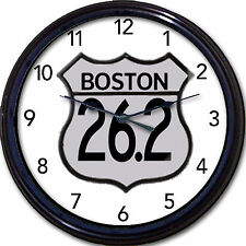 Boston Marathon 26.2 Clock run running runner long distance foot race sport New
