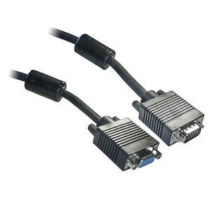 10M SVGA Monitor VGA Extension Cable Lead - Male to Female - Triple Shielded