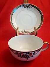 Japanese China Tea Cup and Saucer w/Bird and Flower Design